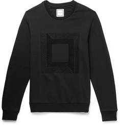 Wooyoungmi Embroidered Cotton-Blend Sweatshirt