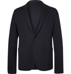Wooyoungmi Midnight-Blue Unstructured Stretch-Jersey Suit Jacket