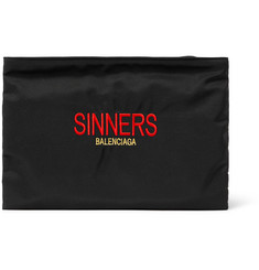Balenciaga Sinners Embroidered Canvas Pouch