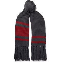 Balenciaga Fringed Virgin Wool Scarf