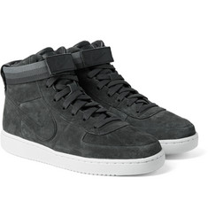 Nike - + John Elliott NikeLab Vandal Premium Leather-Trimmed Suede High-Top Sneakers