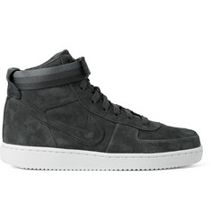 Nike + John Elliott NikeLab Vandal Premium Leather-Trimmed Suede High-Top Sneakers