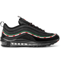 Nike + UNDEFEATED Air Max 97 Patent-Leather and Mesh Sneakers
