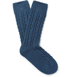 Kingsman-+ Corgi Cable-Knit Cashmere Socks