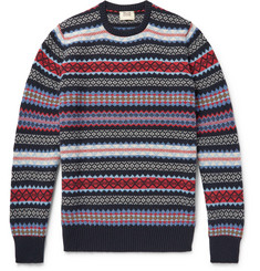 William Lockie Edward Fair Isle Cashmere Sweater