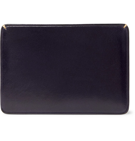 Il Bussetto Polished-leather Cardholder In Navy