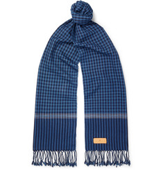 Il Bussetto - Checked Woven Cotton Scarf