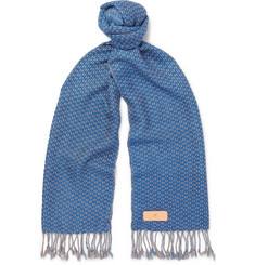 Il Bussetto Checked Woven Cotton Scarf