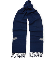 Il Bussetto - Indigo-Dyed Woven Cotton Scarf