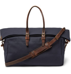 Bleu de Chauffe - Cabine Leather-Trimmed Canvas Holdall