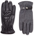 Dents - Guildford Mélange Flannel and Leather Gloves