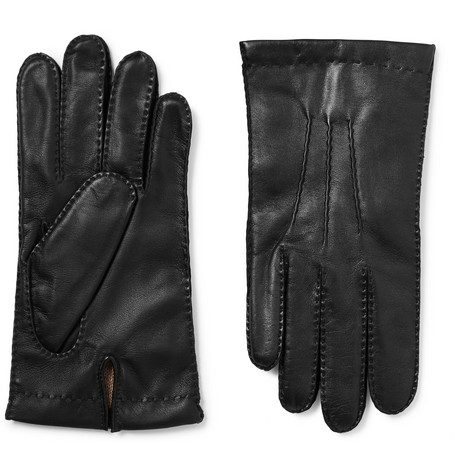 4dfd56e73 Dents Warwick Cashmere-Lined Suede And Leather Gloves - Black | ModeSens