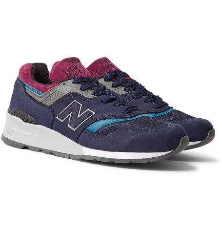 997 Suede And Mesh Sneakers - NavyNew Balance
