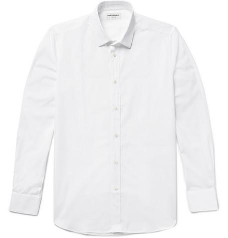 SAINT LAURENT Cotton-Poplin Shirt