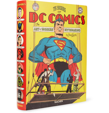 Taschen 75 Years Of Dc Comics: The Art Of Modern Mythmaking Hardcover Book In Yellow