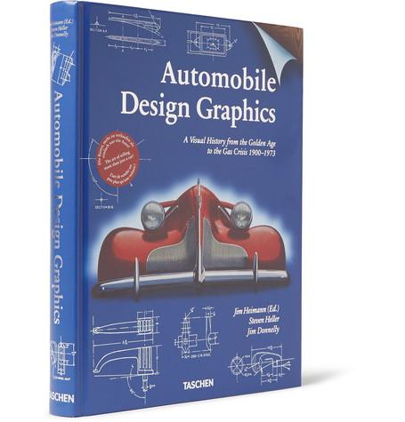 Taschen Automobile Design Graphics Hardcover Book In White