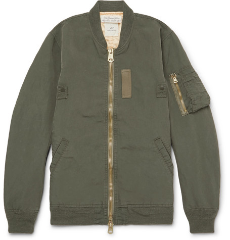 Remi Relief Ma-1 Shell Bomber Jacket In Green