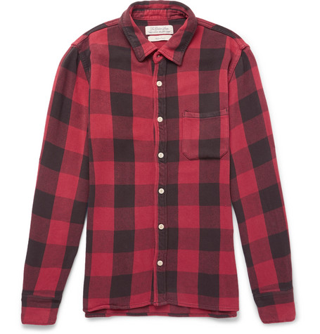 Remi Relief Checked Flannel Shirt In Red