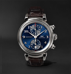 IWC SCHAFFHAUSEN Da Vinci Edition Chronograph 40mm Stainless Steel and Alligator Watch