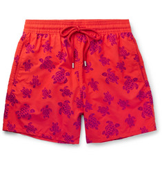 Vilebrequin - Moorea Mid-Length Flocked Swim Shorts