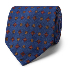Rubinacci - 8cm Medallion-Patterned Silk-Twill Tie