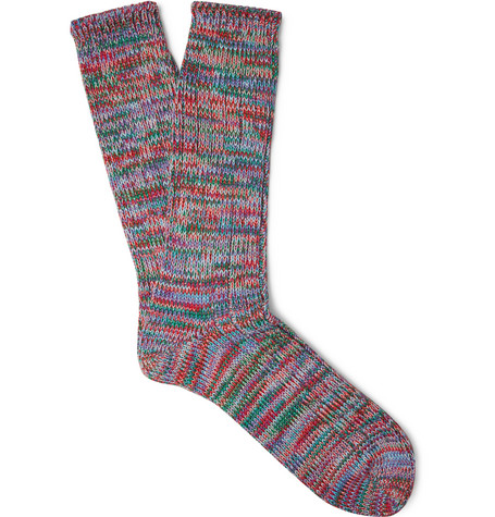 anonymous ism male melange cottonblend socks