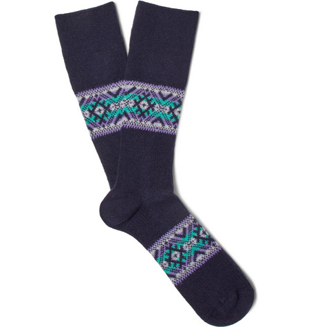 anonymous ism male jacquardknit socks