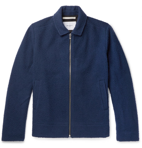 Norse projects Elliot Boiled Wool-blend Jacket - Navy szJNfOz