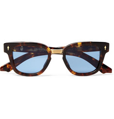 Jacques Marie Mage Jules Square-Frame Tortoiseshell Acetate and Gold-Tone Sunglasses
