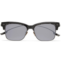 Jacques Marie Mage Apache Square-Frame Tortoiseshell Acetate and Gunmetal-Tone Sunglasses