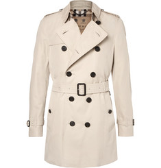 Burberry - Kensington Mid-Length Weatherproof Cotton-Gabardine Trench Coat
