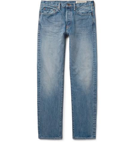 1d6734b86c Kapital Monkey Cisco Distressed Denim Jeans In Mid Denim ...