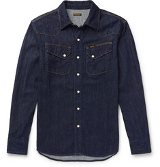KAPITAL - Slim-Fit Denim Western Shirt