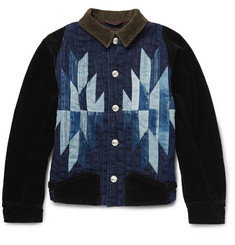 KAPITAL Chimayo Patchwork Denim and Cotton-Corduroy Jacket