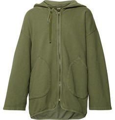 KAPITAL Loopback Cotton-Jersey Zip-Up Hoodie