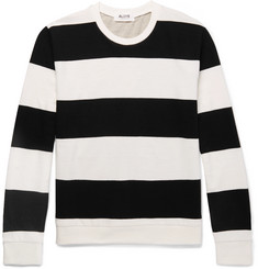 Aloye Slim-Fit Black and White Cotton, Grey Cotton and Yak-Blend Sweater