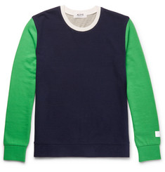 Aloye + G.F.G.S. Slim-Fit Colour-Block Cotton and Yak-Blend Sweater