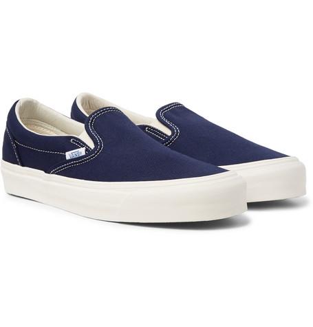 ec23ab1e4174fb Vans Og Classic Lx Canvas Slip-On Sneakers - Midnight Blue