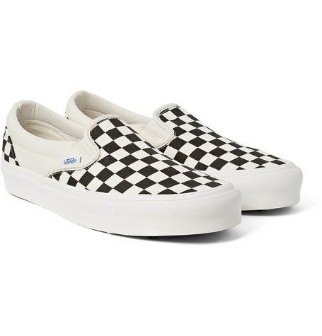 Shoptagr | Og Classic Lx Checkerboard Canvas Slip On