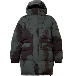 Cav Empt Oversized Printed Nylon Hooded Down Jacket