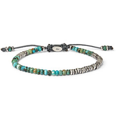 M.Cohen Ingot Sterling Silver and Turquoise Bracelet