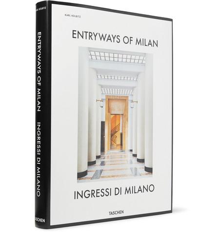 Taschen Entryways Of Milan Hardcover Book In White