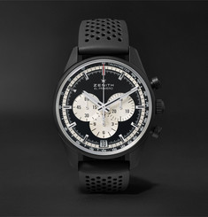 Zenith El Primero Chronomaster 45mm Ceramicised Aluminium and Rubber Watch