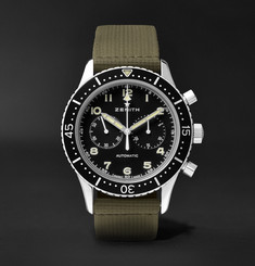 Zenith Pilot Chronometro TIPO CP-2 43mm Stainless Steel and Leather Watch