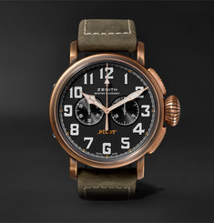 Zenith Pilot Type 20 Extra Special Chronograph 45mm Bronze and Nubuck Watch