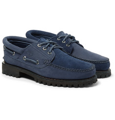 Timberland - + Engineered Garments Suede and Nubuck Boat Shoes