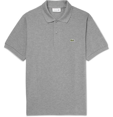 Lacoste Cotton-piqué Polo Shirt - Gray sGeeBl