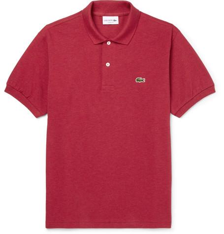 Lacoste Cotton-PiquÉ Polo Shirt In Burgundy