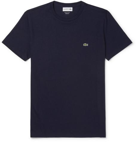 LACOSTE Men'S Motion Pima Cotton Piqué T-Shirt in Navy