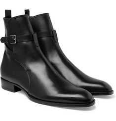 Saint Laurent - Leather Jodhpur Boots